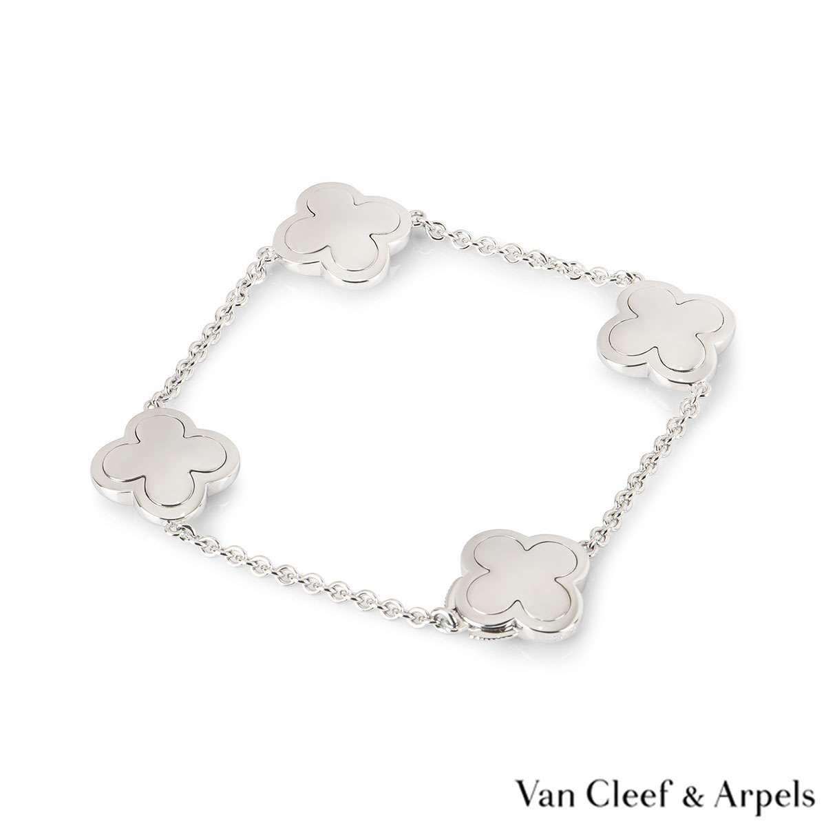 Van Cleef & Arpels White Gold Alhambra Bracelet